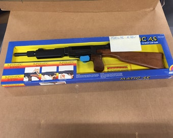 Edison toys matic45 cap gun old store stock mint in box vintage toys