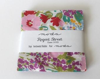 Regent Street Lawn Charm Pack 2015 - Moda Charm Pack- Regent Street Fabric Bundle- Sentimental Studios-Quilt Fabric Destash- Moda Charm Pack