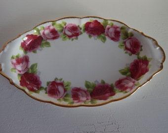 Royal Albert Old english rose tray
