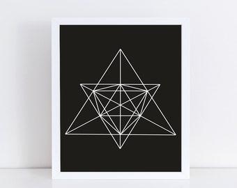 Minimalist Geometric Art, Abstract Linear Print, Wall Decor, Modern Minimalist Poster, Black and White, Wall Art