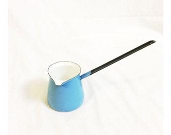 Vintage Blue Enamelware Ladle Scoop