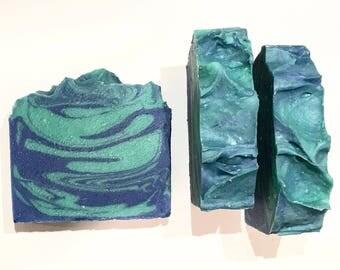 Ocean Kisses Soap, Water Soap, Cold Process Soap, Sea Soap, Sea Grass Soap, Fresh Air Soap, Homemade Soap, Handmade Soap, Clean Soap,