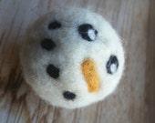 Set of 3, Snowman Wool, needle felted, catnip toys, white, cat, xmas, gift, stocking stuffer, christmas, holiday, toy, kitty, kittie, cats