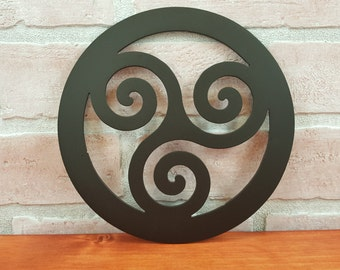 Triskelion Trivet Hot Plate Hot Pad Triskele Decor Irish Kitchen Celtic