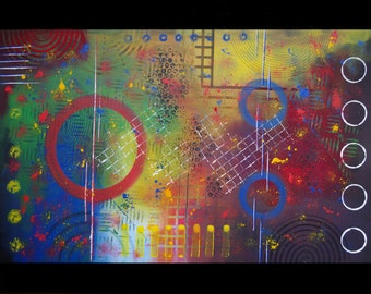 Electrics - Abstract modern contemporary painting 60 x 80 cm