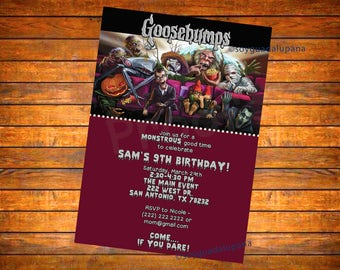 Goosebumps Personalized Digital or Printed Invitation