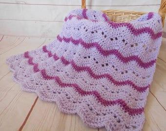 Purple Baby blanket - crochet baby blanket - purple baby blanket - purple baby bedding - baby girl nursery decor - baby shower gift