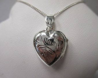 Sterling Silver Heart Locket Necklace