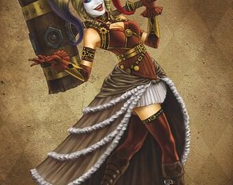 Harley Quinn Steampunk 11x17 High Quality Poster Art Print