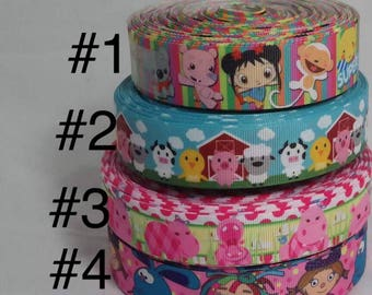 Animal Grosgrain ribbon