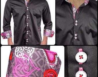 Men's Dress Shirt for Valentines Day - Made To Order in USA