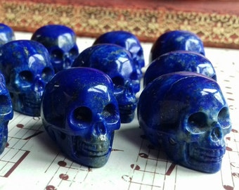 Stunning Top Quality Blue Lapis Lazuli Gemstone Hand Carved Crystal Skull - Crystal Healing, Consciousness, Crystal Energy Transmitter