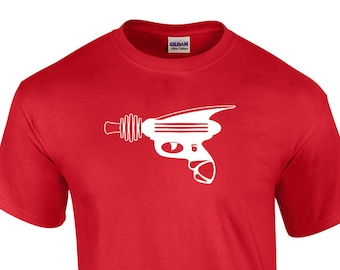 Ray Gun Sci-Fi Shirt (Choice of Size and Color)