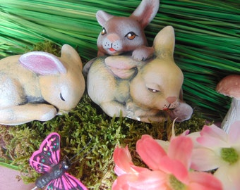 Easter holiday etsy easter set bunny decoration easter holiday decor rabbitceramic bunniesrabbit negle Image collections