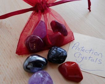 Protection Crystals - Set of 4 Crystals for Protection