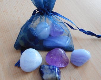 Calming Crystals - Set of 4 Crystals for Calming the Mind, Body & Spirit