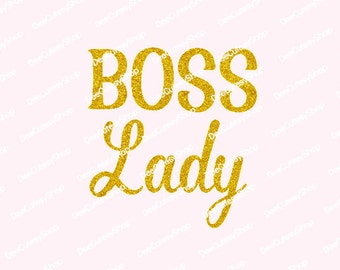Boss Lady, Non-Shed Glitter, Iron On, Boss, Mini, Gold Glitter, DIY, Mommy Iron On, Mommy and Me, NOT DIGITAL, Iron On Decal