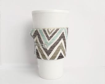 Teacher Gift - Coffee Cup Cozy - Chevron Cup Cozy - Coffee Mug Cozy - Coffee Cup Holder - Mug Sleeve - Relaxation Gift - Thank You Gift
