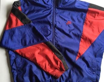 Nike Windbreaker 90's Size Large Blue Red Black