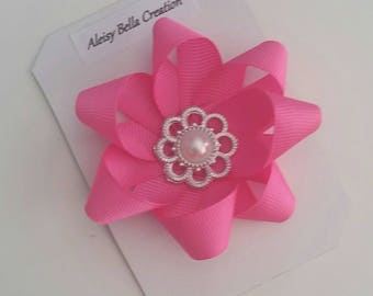 Hot Pink Flower Bow