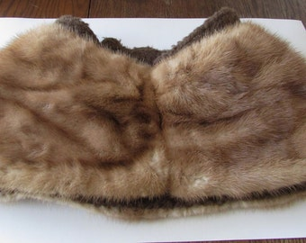 Vintage Fur Collar Coat Piece Repurpose