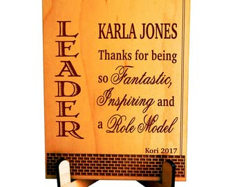 Boss's Day Thank you Gift, Custom Gift for Lead Supervisor Appreciation Gift, Gift to our Boss Leader, Manager Office Desk Top Decor, PBA003