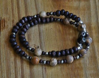 Wood & Jasper Bracelet/Necklace