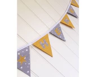 Personalised Counterchange Design Bunting
