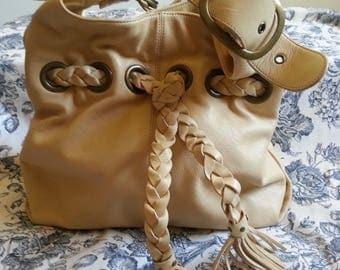 Kooba Leather Hobo Purse vintage hippy