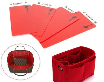 Bag Purse Organizer with One Round Holder and Acrylic Red Bag Base Shaper Kit for Louis Vuitton Bags (Express Shipping)