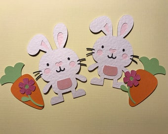Easter bunny rabbit die cuts