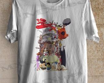 Studio Ghibli Inspired Shirt Tshirt Clothing Unisex Adult Tee