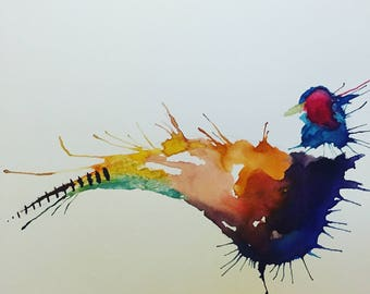 Pheasant Watercolour Print