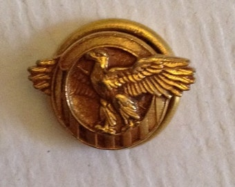 Vintage military eagle pin | Etsy