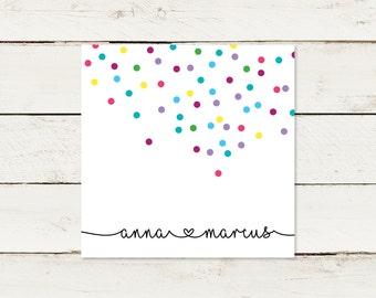 Wedding invitation | Square | Confetti | No 2