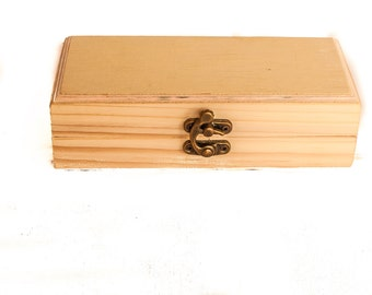 unfinisched wood box inter dimensions 6x2x2 inch