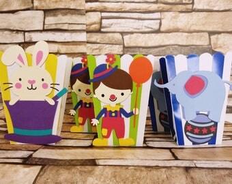 Circus Party Favor, Circus Theme Party Favor Box, Circus Favor Boxes