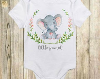 Baby Onesie®- Unique Baby Onesie - Little Peanut Onesie - Baby Boy - Baby Girl - Little Peanut - Elephant Onesie -Baby Shower Gift-Baby Gift