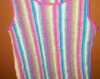 Cotton tank top 5 colors fringes at the bottom for girl 8-10 years