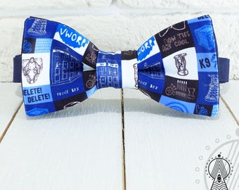 Doctor Who Bow Tie, Blue bowtie, Tardis bow tie, Men's bow tie, Women's bow tie, Children's bow tie