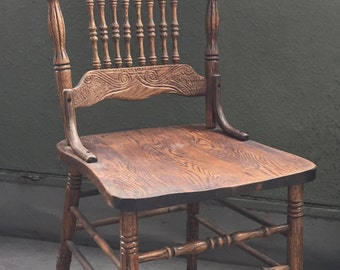 Amish Oak Side Chair, Amish Traditional Apple Grove Dining Room Side Chiar, Solid Oak Chair, Amish Chair, Made in the USA