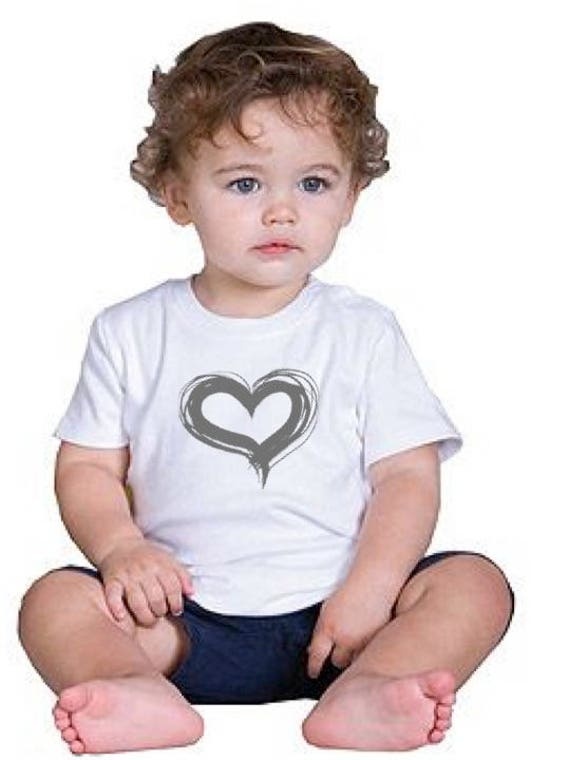 Girl/Boy/Baby t-shirt HEART in various colors