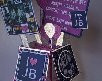 Centrepiece Justin Bieber theme, 1 foot Centrepiece, Birthday Party, Table decoration, 3D table decoration, Party decoration, birthday card