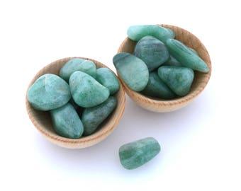 Green aventurine crystal tumbled stone, one piece  aventurine polished crystal