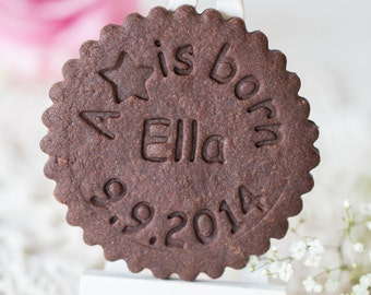"""Cookie stamp """"A star is born"""" personalized"""
