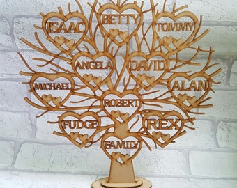 Wooden Family Tree, Free Standing Family Tree,