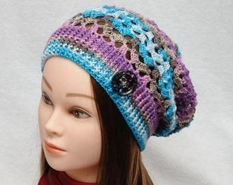Slouch hat Boho style Boho hat Slouchy beanie Womens hats Summer Hat Crochet sun hat Lacy hats Boho beach Boho accessories Womens Gift idea