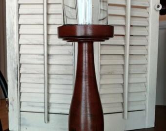 Primitive, Country pedestal candle holder