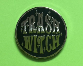 Trash Witch Enamel Pin