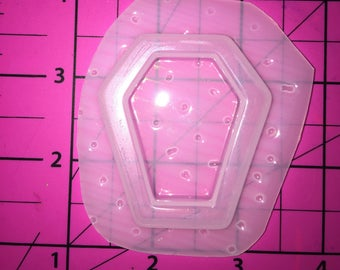 Creepy Coffin Bezel for Liquid or Resin Shakers - Plastic Resin Mold